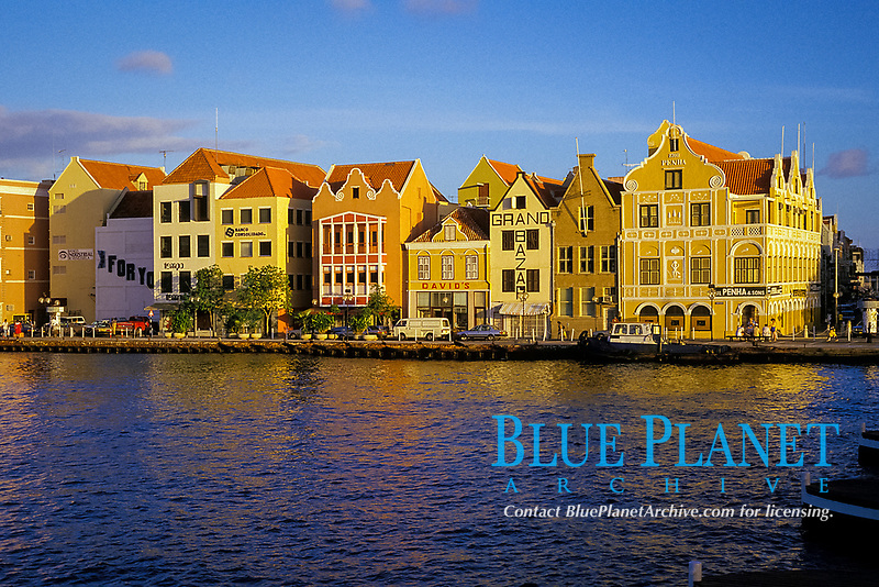 waterfront, Willemstad, Curacao, Netherland Antilles or Dutch ABC Islands ( Caribbean ), Atlantic
