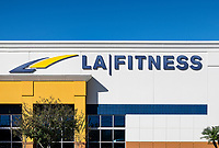 LA Fitness club exterior, Orlando, Florida, USA.