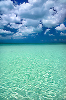 Sapodilla bay with clouds. Providenciales. Turks and Caicos