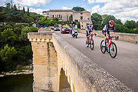 8th July 2021; Nimes, France;THEUNS Edward (BEL) of TREK - SEGAFREDO, VAN MOER Brent (BEL) of LOTTO SOUDAL  during stage 11 of the 108th edition of the 2021 Tour de France cycling race, a stage of 159,4 kms between Saint-Paul-Trois-Chateaux and Nimes.