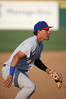 Edwin Diaz (2) of the Stockton Ports during a game against the Rancho Cucamonga Quakes at Loan Mart Field on July 16, 2017 in Rancho Cucamonga, California. Rancho Cucamonga defeated Stockton 9-1. (Larry Goren/Four Seam Images)