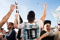 Argentinian supporters before match between Spain and Argentina at Wanda Metropolitano in Madrid , Spain. March 27, 2018. (ALTERPHOTOS/Borja B.Hojas) /NortePhoto.com NORTEPHOTOMEXICO