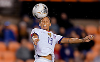 HOUSTON, TX - JANUARY 28: Lynn Williams #13 of the United States heads a ball during a game between Haiti and USWNT at BBVA Stadium on January 28, 2020 in Houston, Texas.