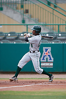 Dartmouth Big Green designated hitter Blake Crossing (13) follows through on a swing during a game against the USF Bulls on March 17, 2019 at USF Baseball Stadium in Tampa, Florida.  USF defeated Dartmouth 4-1.  (Mike Janes/Four Seam Images)