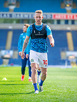 24th April 2021; Ewood Park, Blackburn, Lancashire, England; English Football League Championship Football, Blackburn Rovers versus Huddersfield Town;  Lewis Holtby of Blackburn Rovers going through his warm up routine pre match