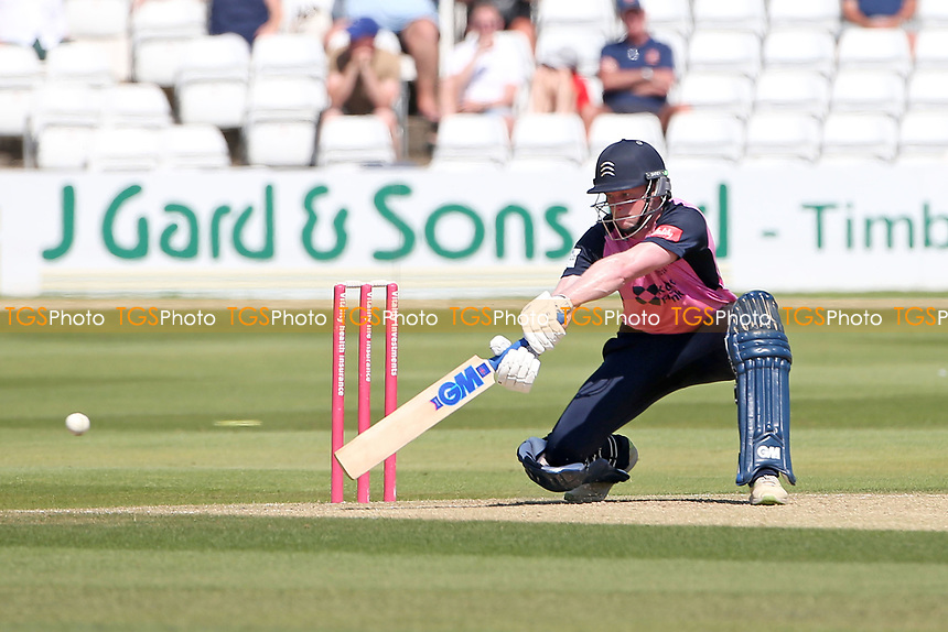 Sam Robson in batting action for Middlesex during Essex Eagles vs Middlesex, Vitality Blast T20 Cricket at The Cloudfm County Ground on 18th July 2021
