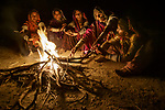 Meghwal women gathered around a fire, Gujarat, India<br /> <br /> Canon EOS-1D X, EF24-105mm f/4L IS USM lens, f/4 for 1/20 second, ISO 4000