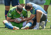 Carson, CA. - Sunday, August 9, 2015: The Los Angeles Galaxy defeat the Seattle Sounders FC 3-1 during Major League Soccer play at StubHub Center.