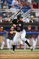 West Virginia Black Bears catcher Arden Pabst (52) at bat during a game against the Batavia Muckdogs on June 29, 2016 at Dwyer Stadium in Batavia, New York.  West Virginia defeated Batavia 9-4.  (Mike Janes/Four Seam Images)