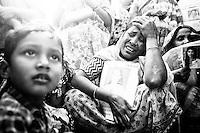 Rashadar mother mourn for her dead daughter. Garments worker Rashada was worked in the Rana Plaza. Savar, Near Dhaka, Bangladesh