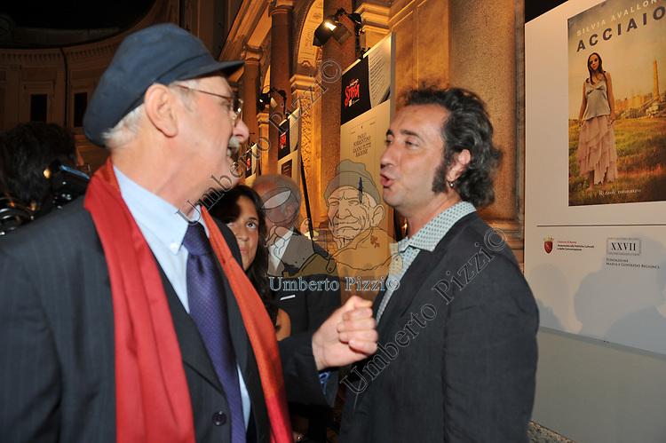 ANTONIO PENNACCHI CON PAOLO SORRENTINO<br /> SERATA FINALE PREMIO STREGA     ROMA 2010