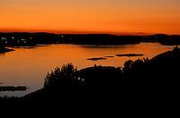 Sunset from Vasskalven Island, Norway.
