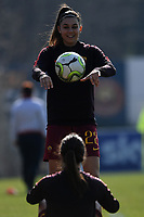 Agnese Bonfantini and Flaminia Simonetti of AS Roma warm up prior to the Women Italy cup round of 8 second leg match between AS Roma and Roma Calcio Femminile at stadio delle tre fontane, Roma, February 20, 2019 <br /> Foto Andrea Staccioli / Insidefoto