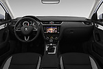 Stock photo of straight dashboard view of a 2017 Skoda Octavia Ambition 5 Door Hatchback