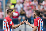 Fernando Torres (L) of Atletico de Madrid and Jorge Resurreccion Merodio, Koke, (R) of Atletico de Madrid react during their La Liga match between Atletico de Madrid vs Athletic de Bilbao at the Estadio Vicente Calderon on 21 May 2017 in Madrid, Spain. Photo by Diego Gonzalez Souto / Power Sport Images