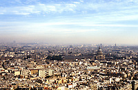 Paris: Looking east from the Eiffel Tower--Dome of Invalides.