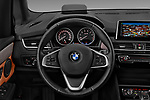 Car pictures of steering wheel view of a 2017 BMW 2-Series-Active-Tourer Luxury 5 Door Mini MPV Steering Wheel