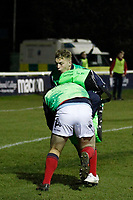 London Scottish warm up during the Greene King IPA Championship match between London Scottish Football Club and Nottingham Rugby at Richmond Athletic Ground, Richmond, United Kingdom on 7 February 2020. Photo by Carlton Myrie.