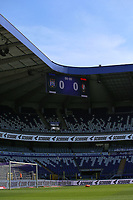 Score board pictured before a female soccer game between RSC Anderlecht Dames and Standard Femina De Liege on the third matchday of play off 1 of the 2020 - 2021 season of Belgian Womens Super League , saturday 24 th of April 2021  in Brussels , Belgium . PHOTO SPORTPIX.BE | SPP | SEVIL OKTEM