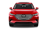Car photography straight front view of a 2018 Mazda CX-9 Touring-FWD 5 Door SUV Front View