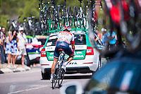 Castellon, SPAIN - SEPTEMBER 7: IAM biker during LA Vuelta 2016 on September 7, 2016 in Castellon, Spain