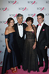 """L-R Elian Lauder, Gary Lauder, Laura Lauder attend The Breast Cancer Research Foundation """"Super Nova"""" Hot Pink Party on May 12, 2017 at the Park Avenue Armory in New York City."""