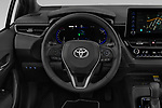 Car pictures of steering wheel view of a 2019 Toyota Corolla-TS-hybrid Style 5 Door Wagon Steering Wheel
