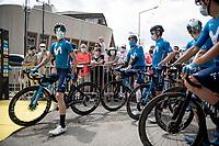 Alejandro Valverde (ESP/Movistar) at the race start in Albertville<br /> <br /> Stage 10 from Albertville to Valence (191km)<br /> 108th Tour de France 2021 (2.UWT)<br /> <br /> ©kramon
