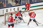 """Dec. 11, 2015; Petr Klíma moves the puck in the NHL Alumni game at the Compton Family Ice Arena. The game was part of the Nanovic Institute for European Studies event """"Elite Athletes and the Cold War."""" (Photo by Matt Cashore/University of Notre Dame)"""