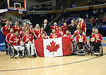 The Canadian Parapan Am Men's Wheelchair Basketball Team plays the United States in the gold medal game at the Toronto 2015 Parapan American <br /> Games on August 15, 2015 at the Ryerson Athletic Centre in Toronto.