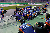Monster Energy NASCAR Cup Series<br /> Quaker State 400<br /> Kentucky Speedway, Sparta, KY USA<br /> Saturday 8 July 2017<br /> Denny Hamlin, Joe Gibbs Racing, FedEx Freight Toyota Camry makes a pit stop, Sunoco<br /> World Copyright: Logan Whitton<br /> LAT Images