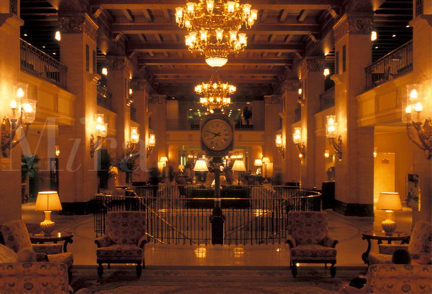 lobby, hotel, Toronto, Canada, Ontario, Interior of the Royal York Hotel in downtown Toronto.