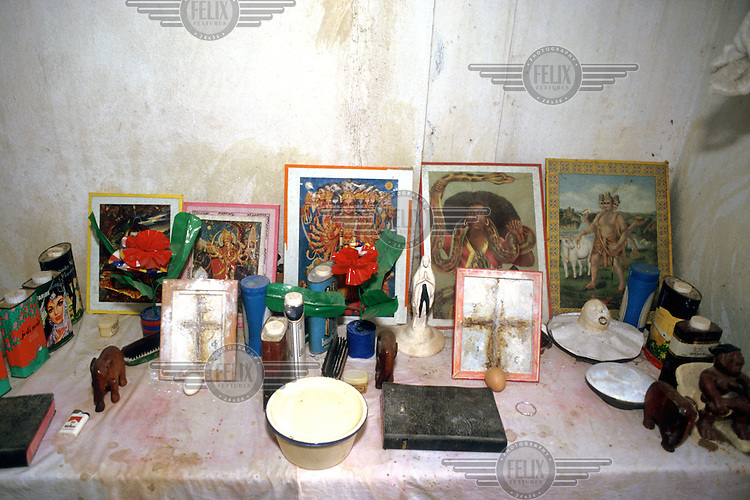 TOGO - Lome - Altar to Mamiwater house of voodoo priest...© Caroline Penn / Panos Pictures