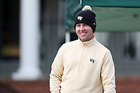 PINEHURST, NC - MARCH 02: Assistant coach Aaron O'Callaghan of Wake Forest University watches from the first tee at Pinehurst No. 2 on March 02, 2021 in Pinehurst, North Carolina.
