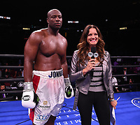 NEWARK, NJ - JULY 31: Fox's Heidi Androl interviews Jonathan Rice after he defeated Michael Coffie on the Fox Sports PBC Fight Night at Prudential Center on July 31, 2021 in Newark, New Jersey. (Photo by Frank Micelotta/Fox Sports/PictureGroup)
