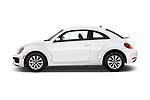 Car driver side profile view of a 2019 Volkswagen Beetle S 5 Door Hatchback