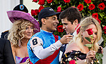 MAY 01, 2021:  John Velazquez hugs Bode Baffert as they celebrate after wining the Kentucky Derby at Churchill Downs in Louisville, Kentucky on May 1, 2021. EversEclipse Sportswire/CSM