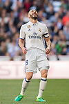 Karim Benzema of Real Madrid laughs during their La Liga match between Real Madrid and Deportivo Alaves at the Santiago Bernabeu Stadium on 02 April 2017 in Madrid, Spain. Photo by Diego Gonzalez Souto / Power Sport Images