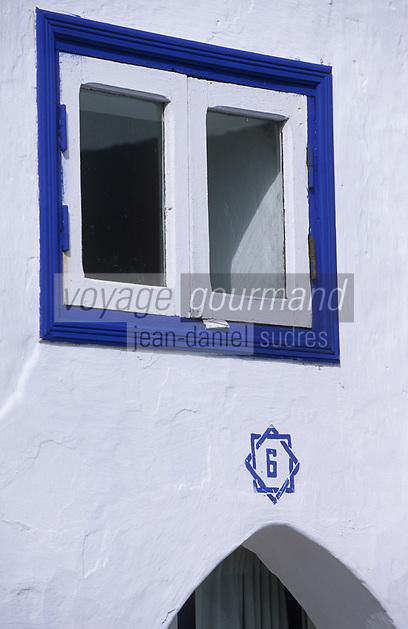 Afrique/Maghreb/Maroc/Essaouira : Détail de la façade de la Villa Maroc, 10 rue Abdellah-Ben-Yacine