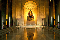 Alexandria, VA, Virginia, Statue of George Washington in Memorial Hall inside The George Washington Masonic National Memorial in Alexandria.