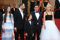 RAFFEY CASSIDY, DIRECTOR YORGOS LANTHIMOS, SUNNY SULJIC, COLIN FARRELL AND NICOLE KIDMAN - RED CARPET OF THE FILM 'THE KILLING OF A SACRED DEER' AT THE 70TH FESTIVAL OF CANNES 2017 . CANNES, FRANCE, 22/05/2017. # 70EME FESTIVAL DE CANNES - RED CARPET 'MISE A MORT DU CERF SACRE'