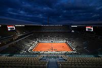 Vue Generale du Court Central Philippe Chatrier en session de nuit<br /> Parigi 09/10/2020 Roland Garros <br /> Tennis Grande Slam 2020<br /> French Open <br /> Photo JB Autissier / Panoramic / Insidefoto <br /> ITALY ONLY
