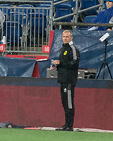 FOXBOROUGH, MA - AUGUST 4: Nashville SC coach Gary Smith during a game between Nashville SC and New England Revolution at Gillette Stadium on August 4, 2021 in Foxborough, Massachusetts.