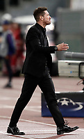 Football Soccer: UEFA Champions League AS Roma vs Atletico Madrid Stadio Olimpico Rome, Italy, September 12, 2017. <br /> Atletico Madrid's coach Diego Simeone during the Uefa Champions League football soccer match between AS Roma and Atletico Madrid at at Rome's Olympic stadium, September 12, 2017.<br /> UPDATE IMAGES PRESS/Isabella Bonotto