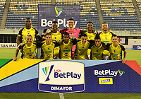 BARRANCABERMEJA - COLOMBIA, 20-01-2021: Jugadores de Alianza Petrolera posan para una foto, antes de partido Alianza Petrolera y Deportivo Pereira, de la fecha 1 por la Liga BetPlay DIMAYOR I 2021 en el estadio Daniel Villa Zapata en la ciudad de Barrancabermeja. / Players of Alianza Petrolera pose for a photo, prior a match between Alianza Petrolera and Deportivo Pereira, of the 1st date for the BetPlay DIMAYOR I League 2021 at the Daniel Villa Zapata stadium in Barrancabermeja city. Photo: VizzorImage  / Jose D. Martinez / Cont.