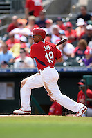St. Louis Cardinals outfielder Jon Jay (19) during a Spring Training game against the New York Mets on April 2, 2015 at Roger Dean Stadium in Jupiter, Florida.  The game ended in a 0-0 tie.  (Mike Janes/Four Seam Images)