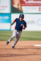 Potomac Nationals second baseman David Masters (8) runs the bases during the first game of a doubleheader against the Lynchburg Hillcats on June 9, 2018 at Calvin Falwell Field in Lynchburg, Virginia.  Lynchburg defeated Potomac 5-3.  (Mike Janes/Four Seam Images)