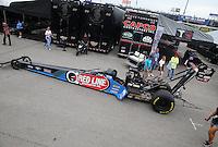Apr 26, 2015; Baytown, TX, USA; NHRA top fuel driver J.R. Todd during the Spring Nationals at Royal Purple Raceway. Mandatory Credit: Mark J. Rebilas-