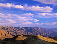 Sunset and clouds view from Dante's View. Death Valley National Park, California