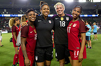 Carson, CA - Thursday August 03, 2017: Taylor Smith, AbbySmith, Jane Campbell, Margaret Purce during a 2017 Tournament of Nations match between the women's national teams of the United States (USA) and Japan (JAP) at StubHub Center.